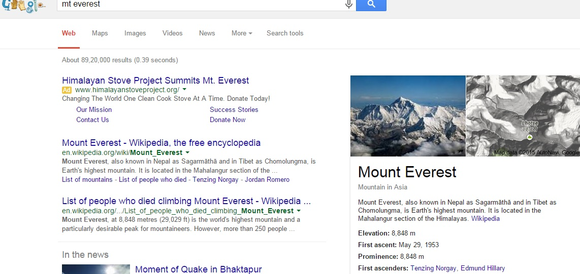 Google Knowlede graph & SEO