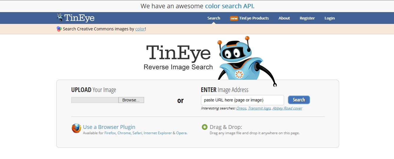 TinEye Image Search Engine