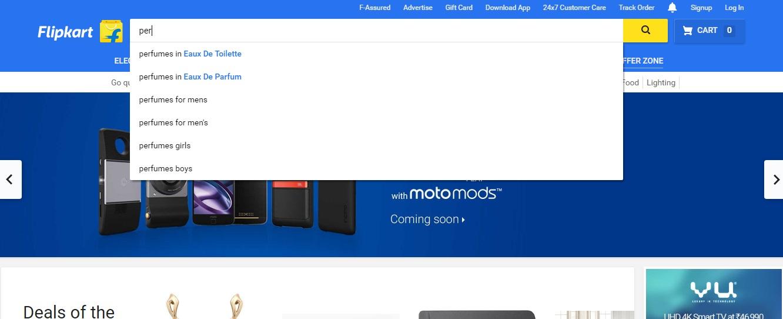 internal site search